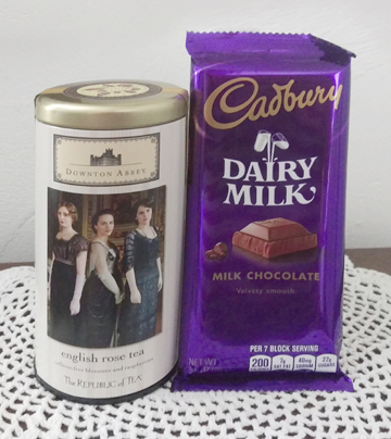 Tea Canister and Cadbury Chocolates for Dressing Downton Special