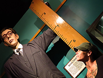 Ripley's Believe It or Not Attraction tallest man display