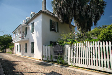 Ximenez-Fatio House Museum Exterior from Aviles Street
