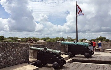 Castillo de San Marcos National Monument cannons