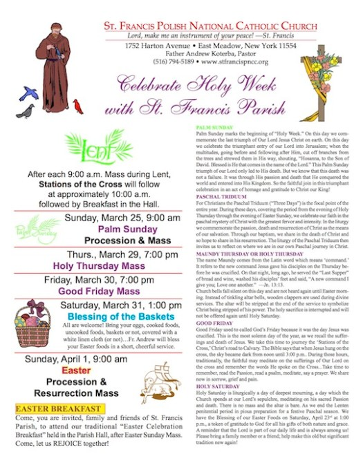 Easter basket st francis pncc come you are invited family and friends of st francis parish to attend our traditional easter celebration breakfast held in the parish hall negle Images