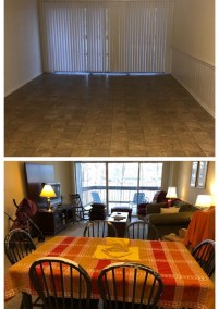 Before After Living and Dining Room
