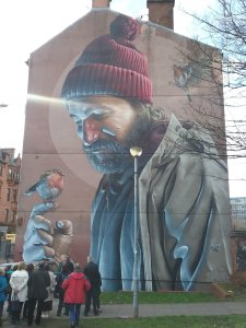 St Mungo mural in Glasgow
