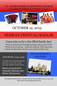 We cordially invite our friends and neighbor to join us on Saturday, Oct. 12, 2013.