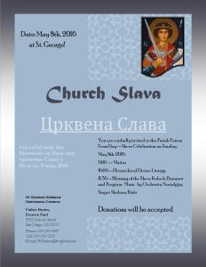 Church Slava Flyer