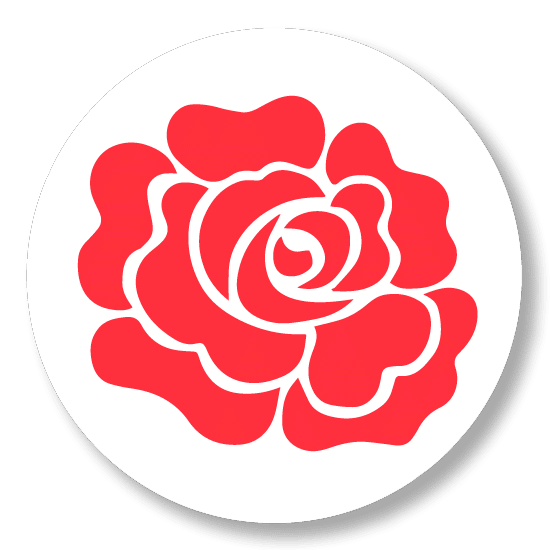 Button badge - Red Rose