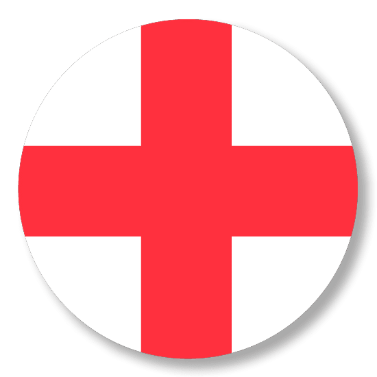 Button badge - St. George cross