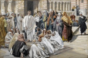 Jesus addressing the pharisees mayybe about the dishonest manager