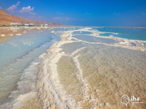 Why does Jesus call us Salt and Light? A view of the Dead Sea showing patterns of evaporated salt. This is where salt came from  in Jesus day