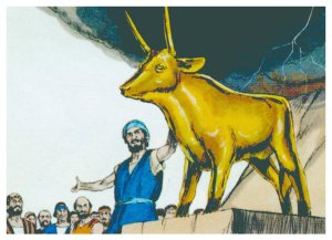 The golden calf, a symbol of impatience and compromise