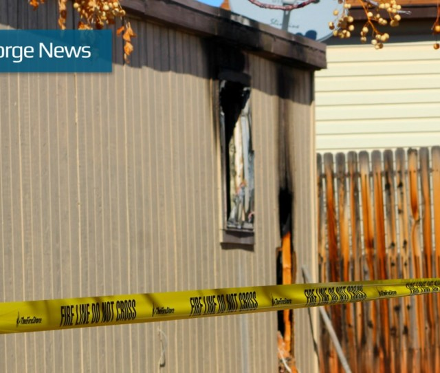 Midnight Fire Off Of Dixie Downs Displaces Family Destroys Mobile Home St George News