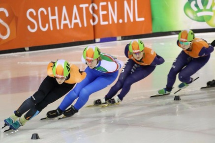 Joni Tersteeg schaatst geschaagd NK shorttrack