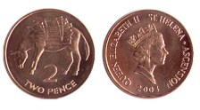 St Helena 2 Pence coin