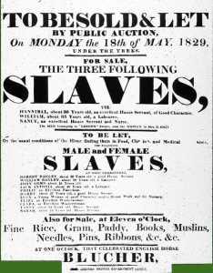 Slave sale notice