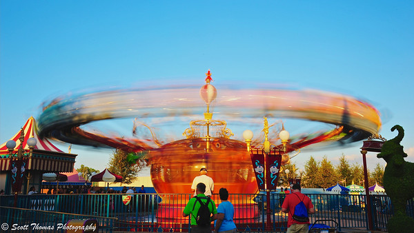 """Dumbo ride in Magic Kingdom's Fantasyland, Walt Disney World, Orlando, Florida."