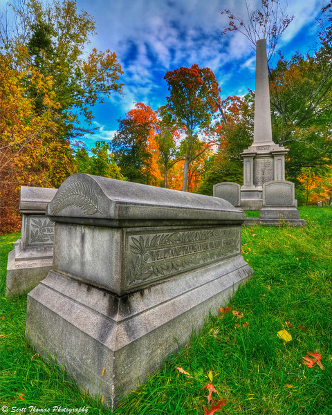 The Family Gere plot located in Oakwood Cemetery near Syracuse, New York.