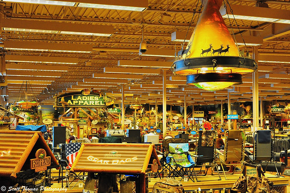 Inside the Bass Pro Shops super store of the Finger Lakes at the Finger Lakes Mall in Auburn, New York.