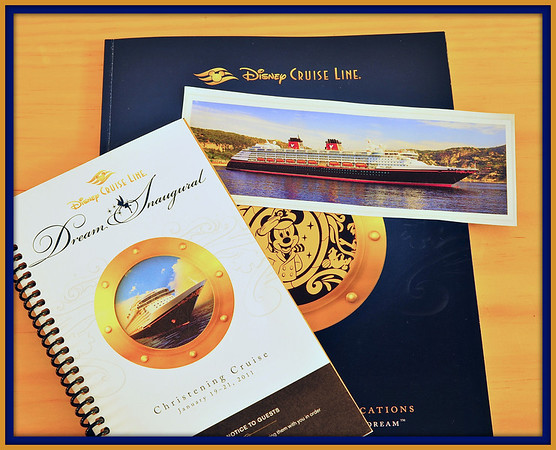 Disney Dream Christening Cruise documents.