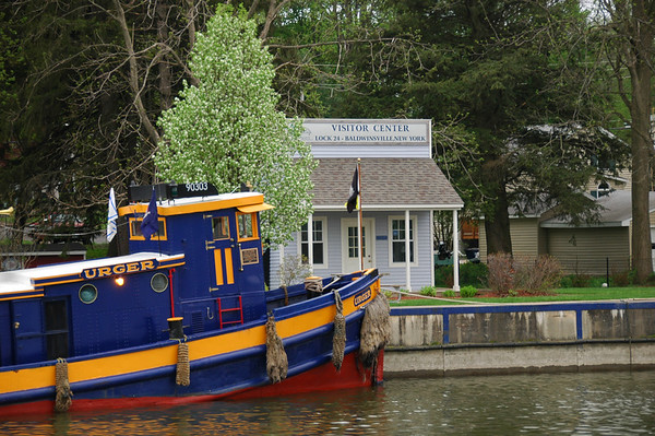 The Tugboat Urger visiting the village of Baldwinsville, New York.