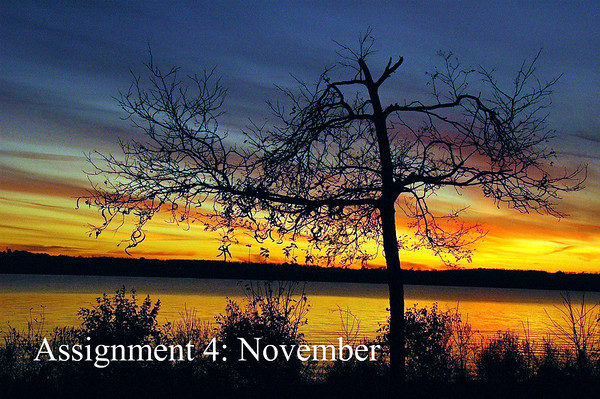 November can be colorful like this sunset I photographed last year at Onondaga Lake Park near Syracuse, New York.