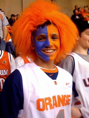 A young Syracuse University Orange Fan at the Carrier Dome on Wednesday, February 10, 2010.  SU went on to post a 72-67 victory over the UConn Huskies.
