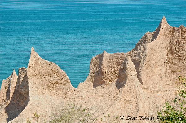 The bluffs of Chimney Bluffs State Park near Sodus, New York.