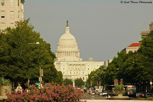 The United States Capitol building in Washington, D. C.