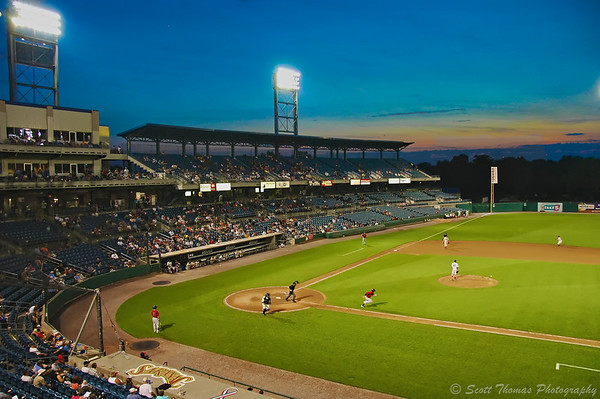 Pawtucket Red Sox take on the Syracuse Chiefs in International League Baseball action at Alliance Bank Stadium in Syracuse, New York.
