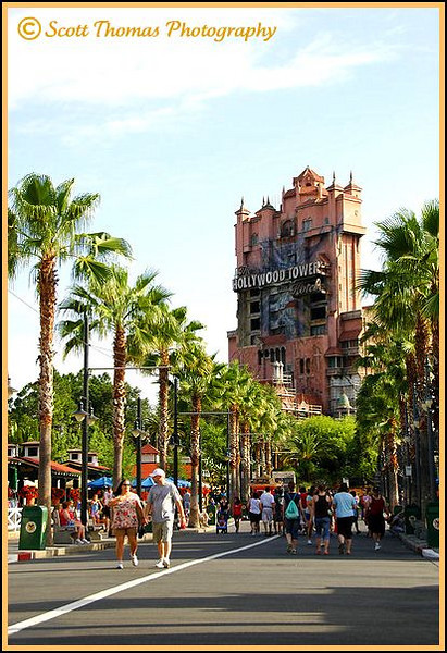 Walking down Sunset Blvd. in Disney's Hollywood Studios.