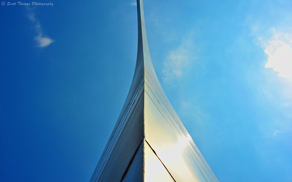 The Gateway Arch soars above the Jefferson National Expansion Memorial in St. Louis, Missouri.