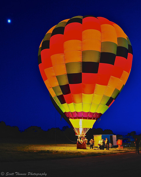 Balloon glow event during the Oswego Balloonfest at the Oswego Country Fairgrounds in Sandy Creek, New York.