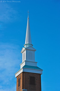 The new steeple on the First United Methodist Church in Baldwinsville, New York.