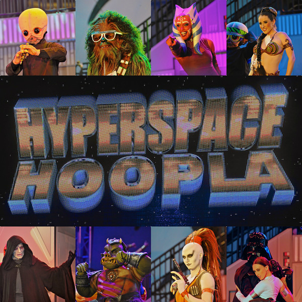Hyperspace Hoopla featuring the Star Wars Dance Off between the Good Guys (top) and Bad Guys (bottom) in Disney's Hollywood Studios.