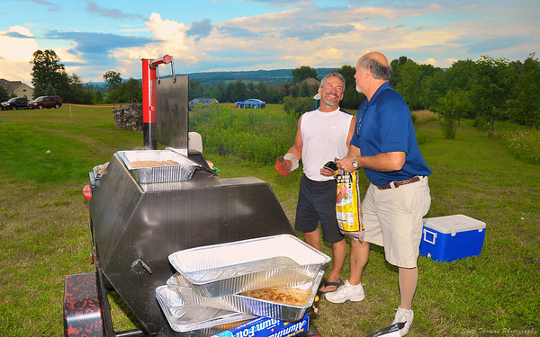 My cousin Gary from Denver and his Brother-In-Law Doc manned the grill during Field Jam hosted by Gary's brother, Billy.