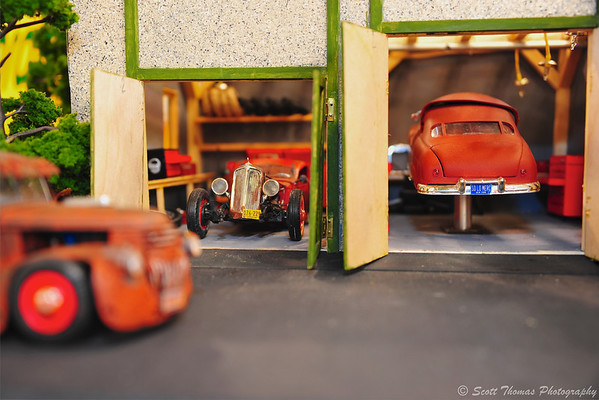 Hot rod garage.