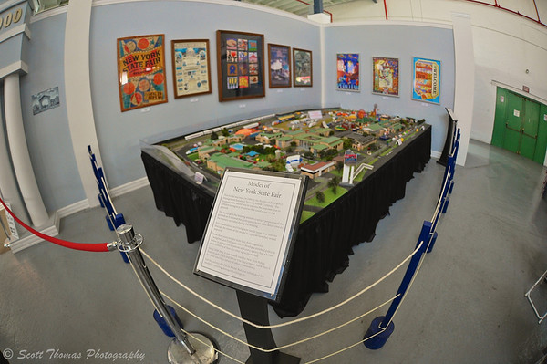 Map of the Fairgrounds from 1999 used by emergency personnel for planning at The Great New York State Fair history exhibit in Syracuse, New York.