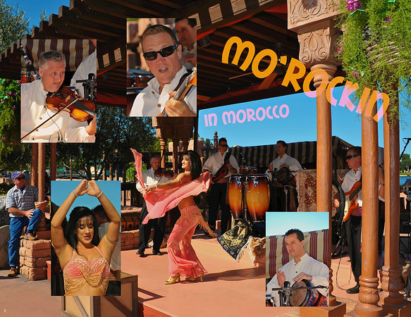 Mo'Rockin entertaining guests in Epcot's Morocco pavilion at Walt Disney World.
