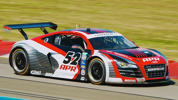 The APR Motorsport Audi R8 Grand Am running at the Watkins Glen International during the Sahlen's Six Hours of The Glen on Sunday, July 1, 2012.