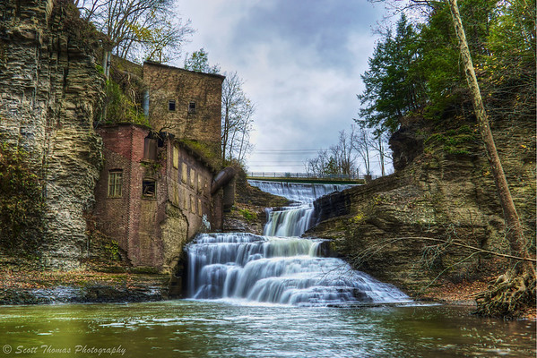 Wells Falls in Ithaca, New York.