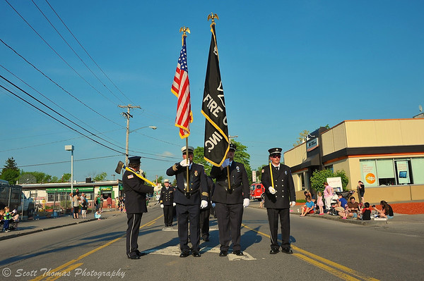 Baldwinsville Fire Department Color Guard in the 2013 Memorial Day Parade held on May 30, 2013 in Baldwinsville, New York.
