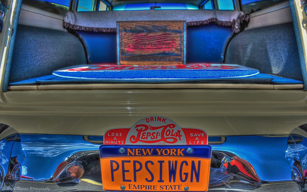 The Pepsi Wagon vanity license plate at the Syracuse Nationals Hot Rod Show in Syracuse, New York.