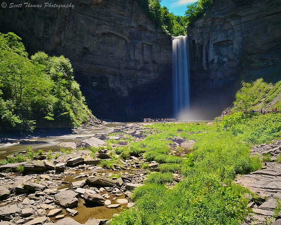 Taughannock Falls at 1:24PM using at 10-stop ND filter on a summer's day.
