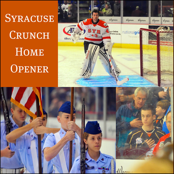 Pre-game activities before the home opener for the Syracuse Crunch AHL team.