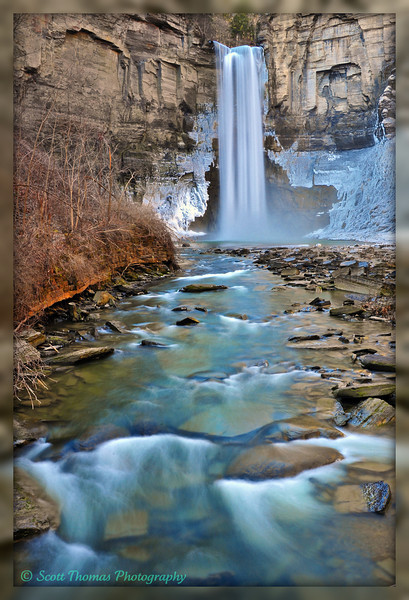 Late Winter, Early Spring at Taughannock Falls State Park near Ithaca, New York.