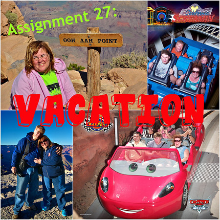 Vacationing at the Grand Canyon and at Disney's California Adventure.