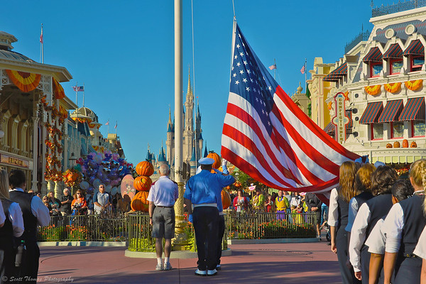 On honor of our Country's fallen, I photographed this veteran during the Magic Kingdom Flag Retreat ceremony last Fall at Walt Disney World.