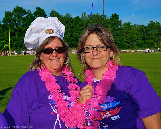 Cancer survivors at the 2012 Baldwinsville Relay for Life for the American Cancer Society at Pelcher-Arcaro Stadium in Baldwinsville, New York.