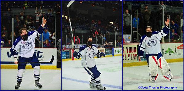 Three stars from #FearTheBeard night at the Syracuse Crunch.  In order from Third to First Star are Pierre-Cedric Labrie (20), Mark Barberio (8) and Cedrick Desjardins (30) with the shutout.