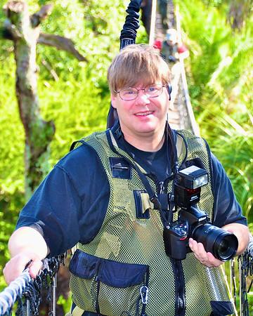 Views Infinitum author and photographer, Scott Thomas, on the Wild Animal Trek in Disney's Animal Kingdom.