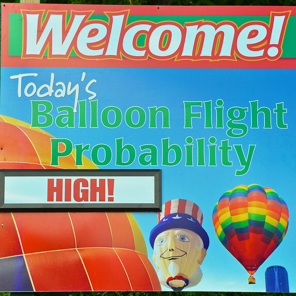 This is what people want to see when going to a Hot Air Balloon Festival!